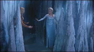 Que perd Elsa dans la glace du mur qu'elle a fait ?
