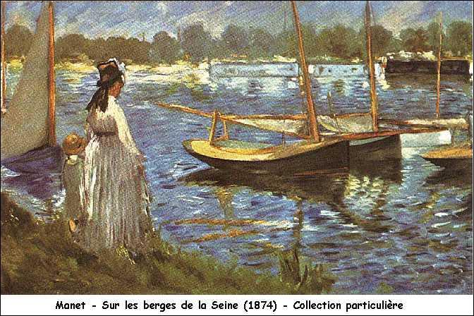 Cette femme se tient sur les berges de la Seine, on peut donc dire qu'elle se trouve...