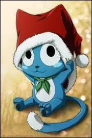 Dans quel manga un petit chat bleu qui vole et qui parle apparaît-il ?