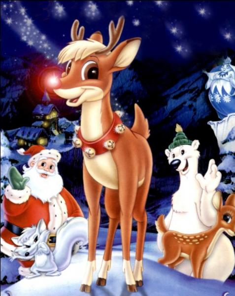 """""""Le petit renne au nez rouge"""". Complétez : """"Quand la neige recouvre ... / Le vent dans la nuit / Au troupeau parle encore de lui"""" !"""