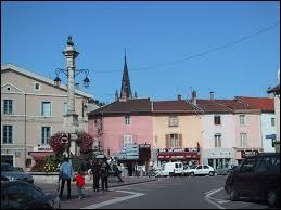 Nous nous trouvons dans le centre de Montluel, commune rhônalpine située dans le département ...