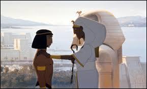 Au début du dessin animé on voit Moïse et son frère :