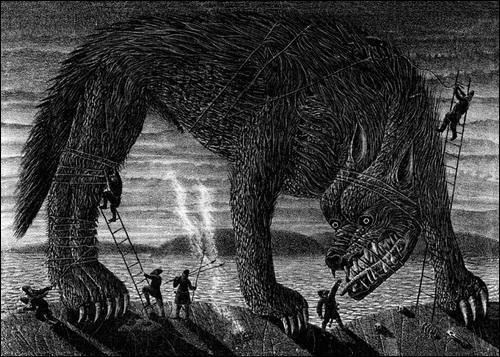 Fenrir, appelé également Fenrisúlfr est un loup géant dans la mythologie. Mais de quelle mythologie fait-il partie ?