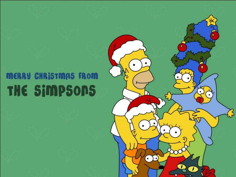 Et la famille Simpson vous souhaite un Joyeux Noël et une Bonne année :