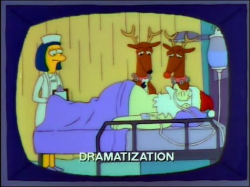Le père Noël est malade, ses rennes sont tristes. Et cette télé, elle est à qui, d'après vous ?