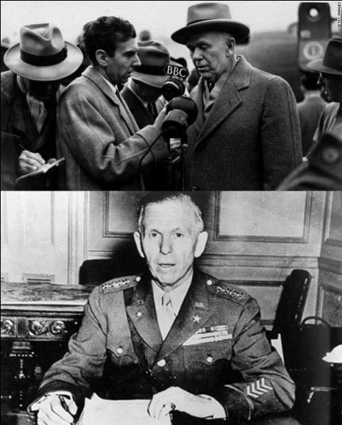 Allons aux Etats-Unis ! C'est le conseiller du président. C'est aussi le chef d'état-major de l'armée américaine. Il est à l'origine d'une aide aux pays européens. Qui est ce personnage ?