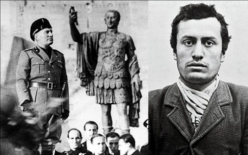 Allons en Italie ! Il désire recréer l'Empire romain. Il sera le mentor politique d'un autre dictateur qui le dépassera. Lorsqu'il fera entrer en guerre son pays, il sera souvent obligé d'appeler son allié nazi « à l'aide », suite à son incompétence et la mauvaise préparation de ces armées ! Qui est-il ?