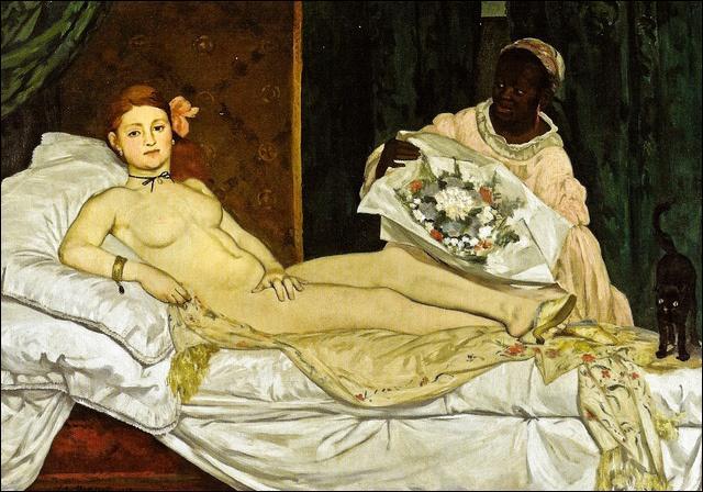 """""""Olympia"""". Peint en 1963, ce nu était jugé à l'époque comme le plus scandaleux des nus féminins jamais peints. Mais qui en est l'auteur ?"""