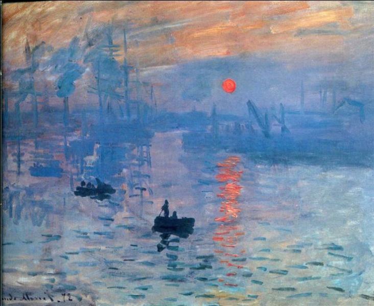 Certains tableaux ont marqué l'histoire de l'art de façon durable. C'est le cas de la toile « Impression, soleil levant » datée de 1872 ; qui en est l'auteur ?