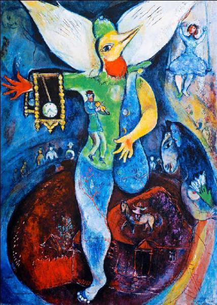 Quizz tableaux de marc chagall quiz peintures tableaux for Chagall tableau