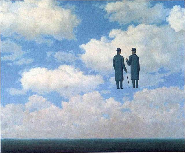 Quizz 10 tableaux de magritte quiz peintres peintures - Tableau chapeau melon pomme verte ...