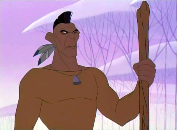 Quel est le nom complet du garde du corps de Pocahontas en Angleterre ?