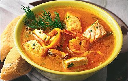 En France, soupe de poissons charentaise. Au Canada, soupe aux coquillages et pommes de terre !