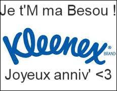 Quand les mouchoirs de la marque Kleenex ont-ils été inventés ?