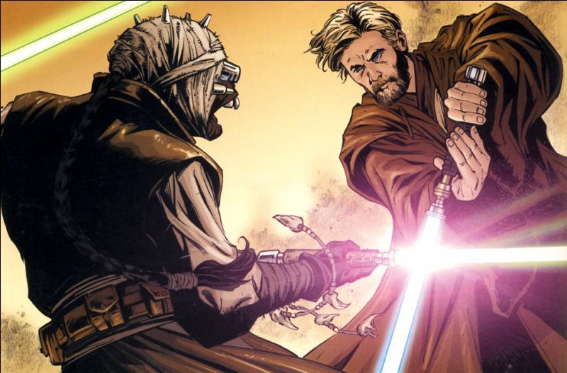 Qui remporta le duel opposant A'Sharad Hett à Obi-Wan, sur la planète Tatooine ?