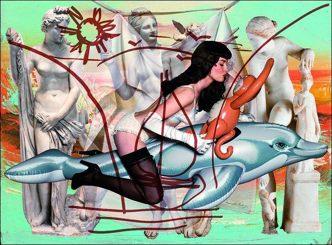 Qui est l'artiste américain auteur de cette œuvre contemporaine ?