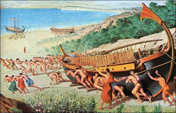 De quelle ville antique grecque, le dauphin était-il l'emblème ?