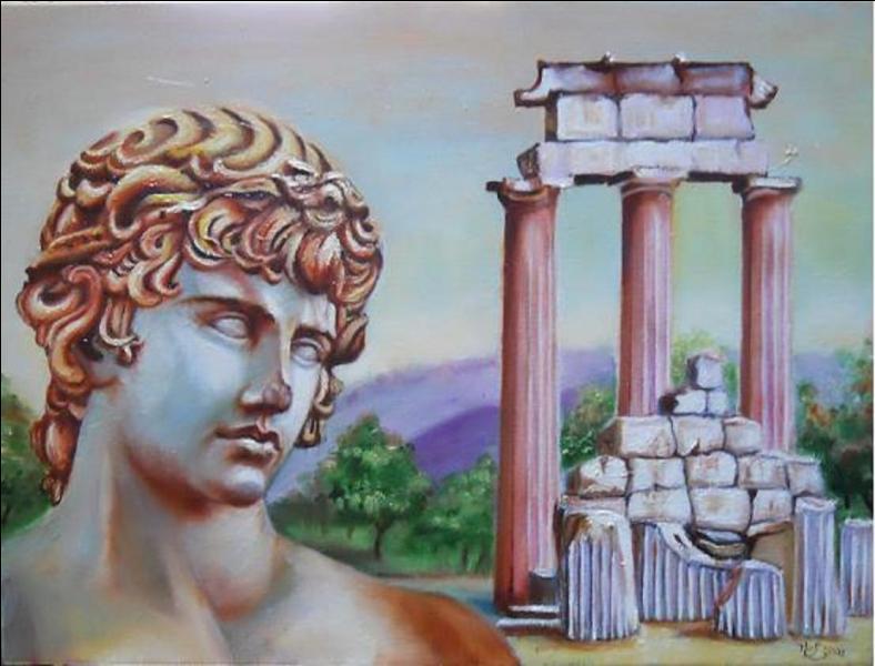 Quel est le temple grec qui est associé au dauphin par l'intermédiaire du dieu Apollon ?