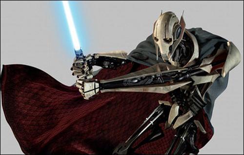 À l'aide de quelle arme Obi-Wan terrasse-t-il Grievous ?