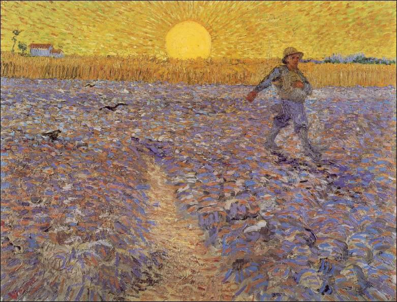 Qui a peint Le semeur au soleil couchant ?