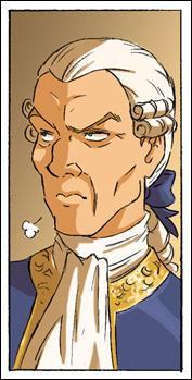 Quel événement l'a poussée à rejoindre son grand-père, comte de La Roche ?