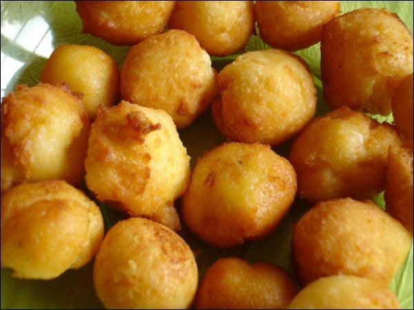 Les pommes Elisabeth sont, elles, des pommes dauphine garnies après cuisson :