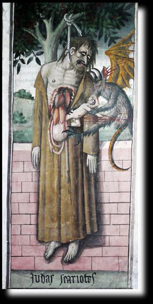 Mythologie biblique - Après avoir dénoncé l'homme dont j'étais l'apôtre pour quelques pièces d'or, je me suis pendu tout en regrettant mon acte. Qui suis-je ?