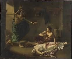 Mythologie grecque - Condamné à mourir murée dans un trou, je pris la décision de me pendre avec fil de ma ceinture pour abréger mes souffrances. Qui suis-je ?