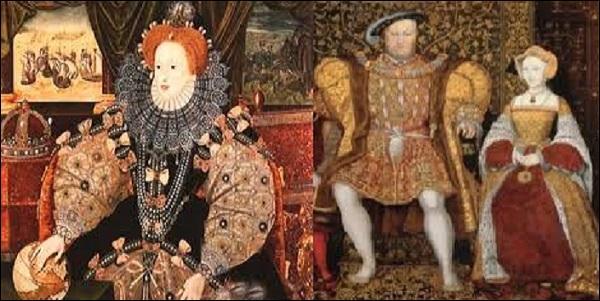 De qui Elisabeth 1re, reine d'Angleterre et d'Irlande, est-elle la fille ?