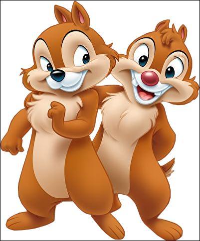 Quels sont les noms de ces deux écureuils, un malin et un benêt ?