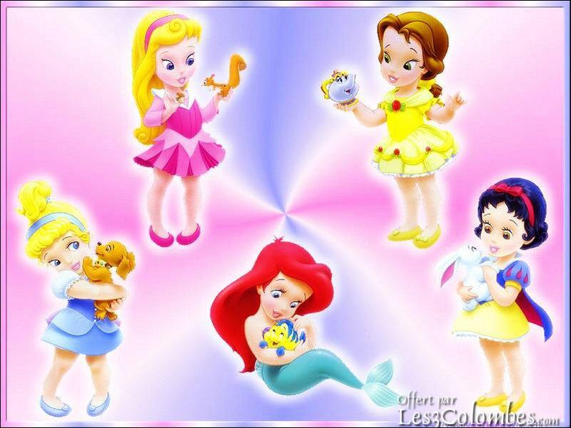 Quels sont les noms des princesses sur l'image ?