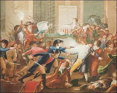 La chute de Robespierre marquera la fin de la Terreur. Où et à quel moment fut-il arrêté ?