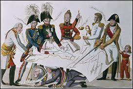 Quel nom porte cette scène représentée par une caricature de l'époque ?