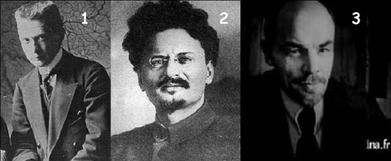 Qui sont les trois grandes figures de la Révolution russe de 1917 ?