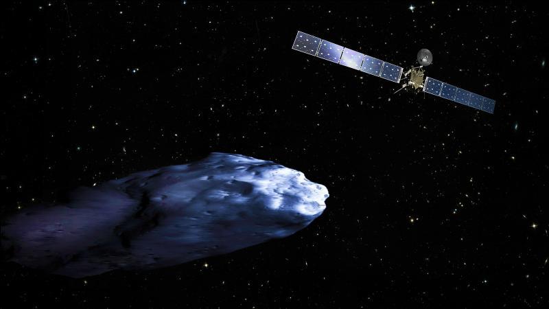 À combien de km de la terre se situait La comète qu'a atteint Rosetta le 2 mars 2004 ?