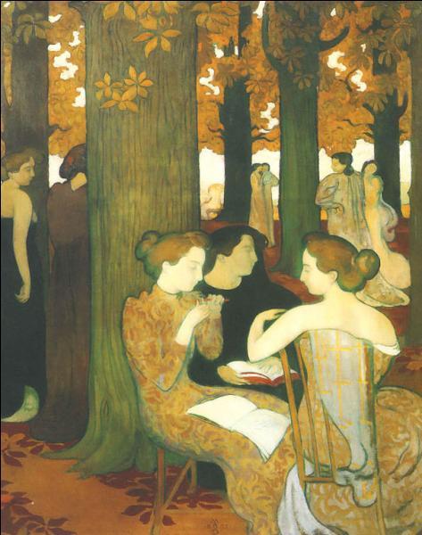 Qui a peint Les muses dans le bois sacré ?