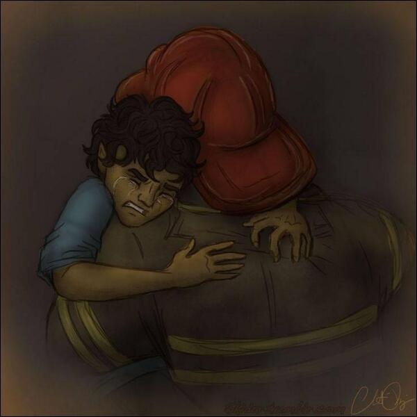Tululut, tululut ! Voilà les pompiers ! Oups accident grave...Qui est ce petit enfant qui pleure ?