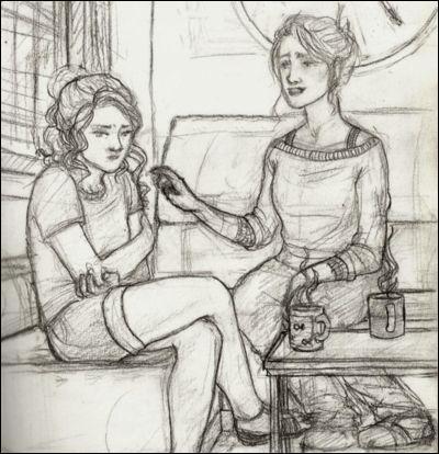 Qui peuvent être ces deux personnes ?(Indice : la jeune fille est triste, fâchée ou stressée, à vous de faire un rapprochement...)
