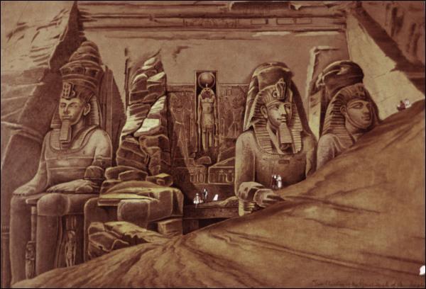 Où se situe dans l'Égypte antique ce colossal temple nommé Abou Simbel construit sous le règne de Ramsès II ?
