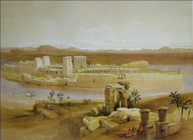 Quelle est là ou les déesses égyptiennes vénérées dans le sanctuaire de l'île de Philaé ?