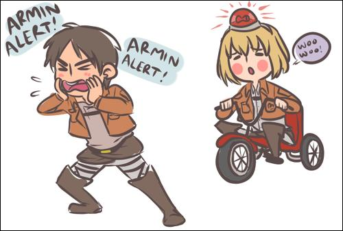 """""""L'Armin alerte"""" est déclenchée. Il faut agir vite ! Le Titan colossal a commandé une pizza. Qui sont les soldats chargés de sonner l'alerte à la pizzeria ?"""