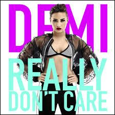 "Avec quel star a-t-elle chanté ""Really Don't Care"" ?"