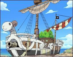 Qu'est-ce qu'il y a sur la voile du navire ?