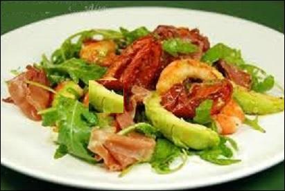 Une entrée fraîche que vous apprécierez après une soupe automnale. Quels fruit et légume voyez-vous dans l'assiette ?