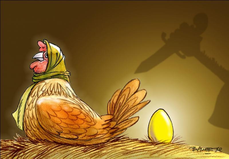 """Retrouvez la morale de la fable """"La poule aux oeufs d'or"""" ?"""