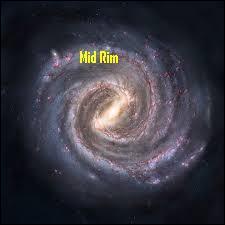 Quelle planète ne se situe pas dans la région Bordure Médiane ?