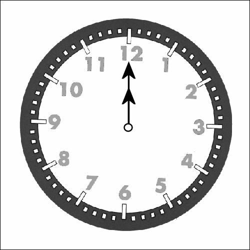 Autre comptine. Sur cette horloge, quelle heure est-il ?