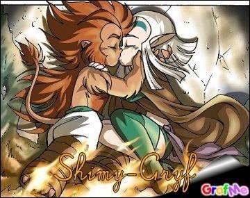 Le première fois que Gryf embrasse Shimy, Gryf lui dit...