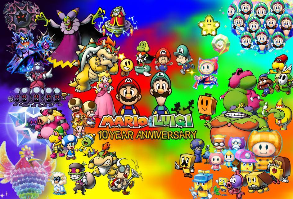 Les personnages de la série Mario et Luigi !