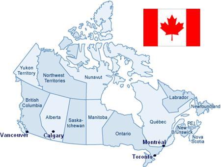 Le Canada pour les nuls/7-géographie de base